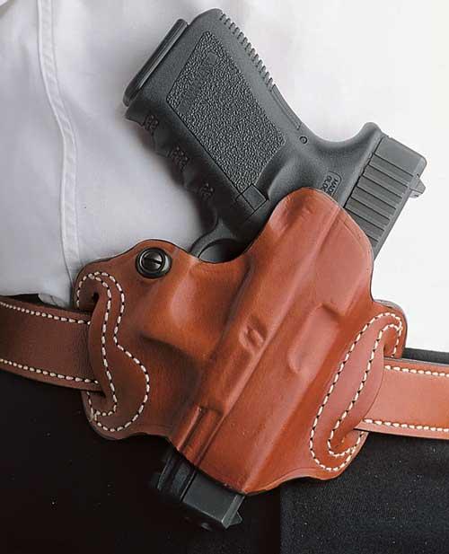 Desantis Mini Slide Holster - Owb Rh Leather Fn 503 Tan-img-0